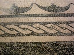 Détail de mosaique romaine retrouvée sous le château comtal(© Fabienne Calvayrac)