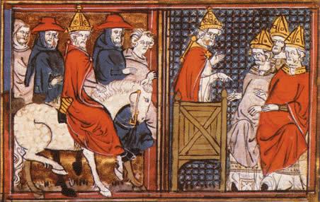 Urban II miniature dans le Roman de Godefroy de Bouillon