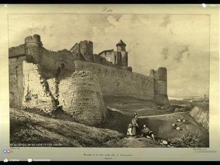 La Barbacane Notre-Dame en 1835, lithographie dans Voyage pittoresque dans l'ancienne France du baron Taylor. (©BNF/Gallica)