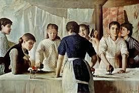 Les Blanchisseuses, toile de Maria Petiet (Musée Petiet à Limoux)