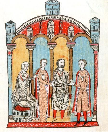 Bernard Aton donnant sa fille Ermengarde en mariage, Liber Feudorum Maior, 1192
