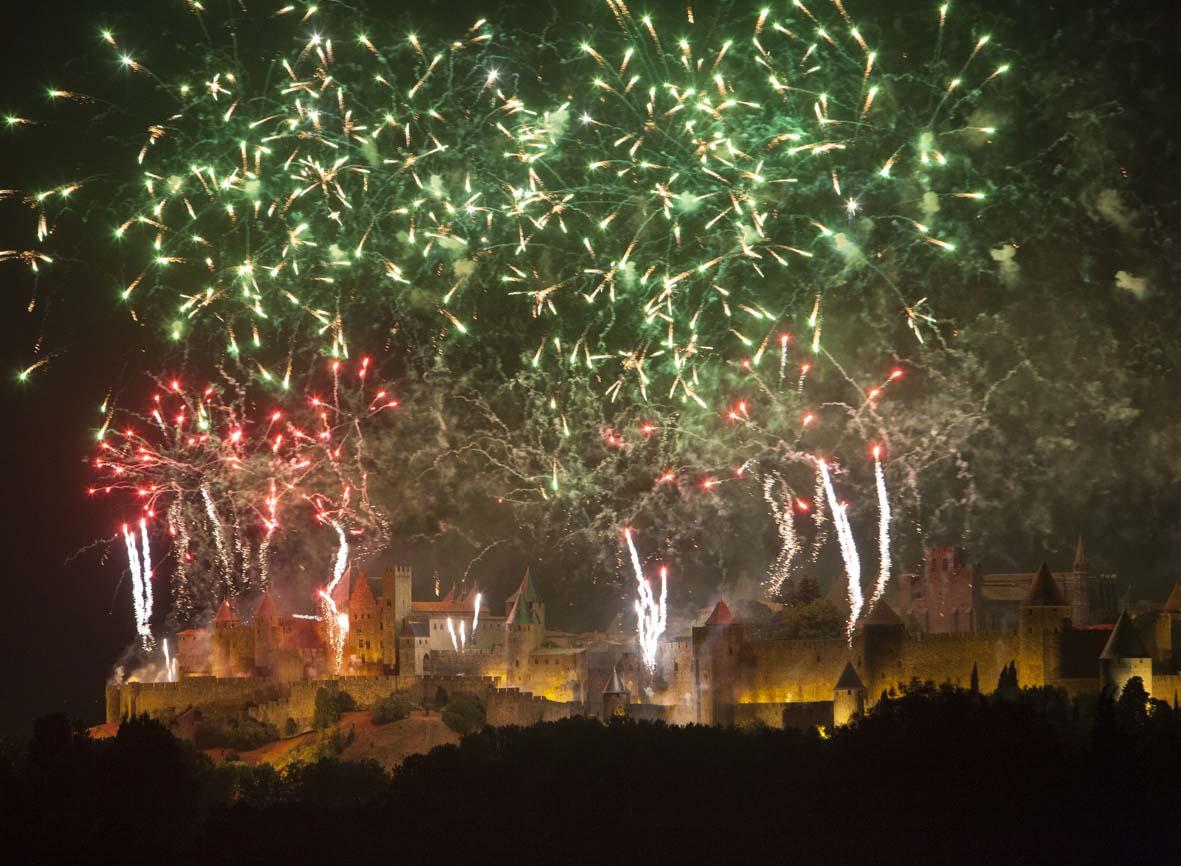 Feu d'artifice à Carcassonne (© Ph. Benoist)