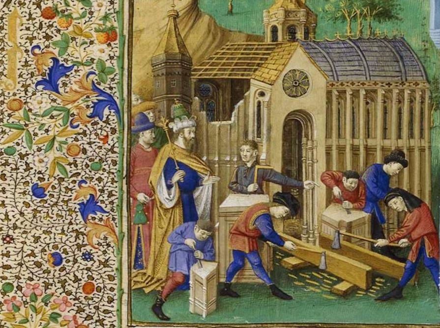 Mare historiaum, 1447-1475, détail d'une enluminure (©BNF)