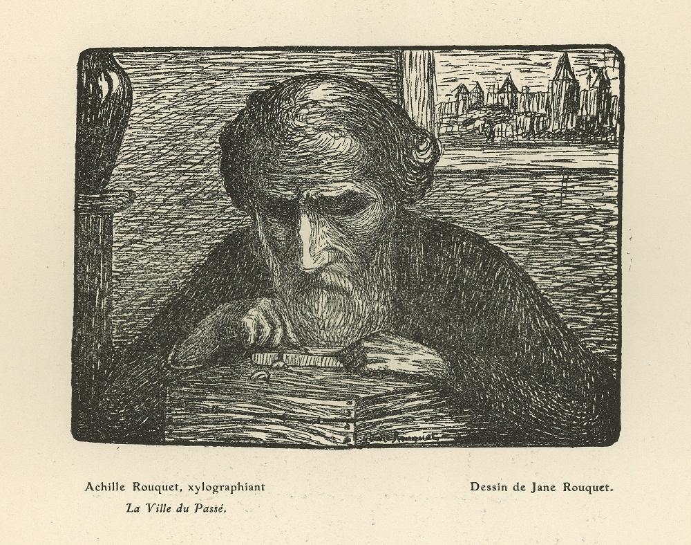 Achille Rouquet, gravure de Jane Rouquet
