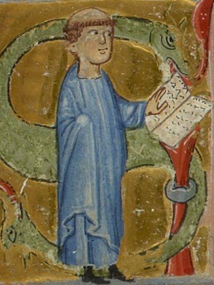 Arnaut de Mareuil, chansonnier provençal, XIIIe (©BNF)