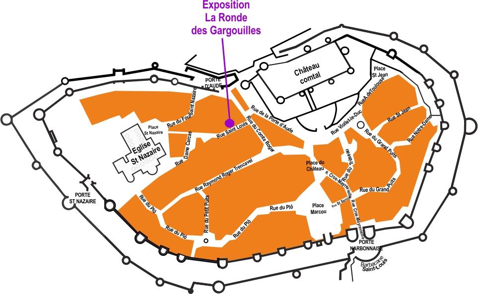 Localisation de l'exposition dans la Cité