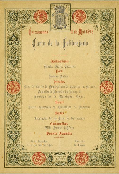 Le menu du banquet ©Archives de lAude)